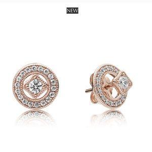 New Pandora Rose Vinted Allure Rose Earrings